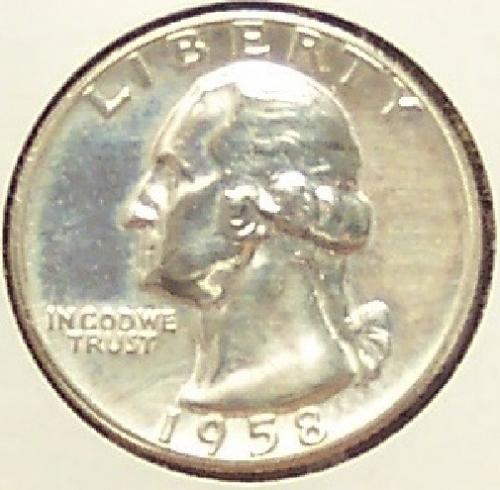1958 Silver Proof Washington Quarter #0006