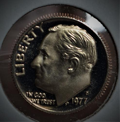 1977 S Roosevelt Dime Proof - Cameo