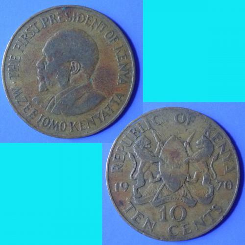 Kenya 10 Cents 1970 km 11