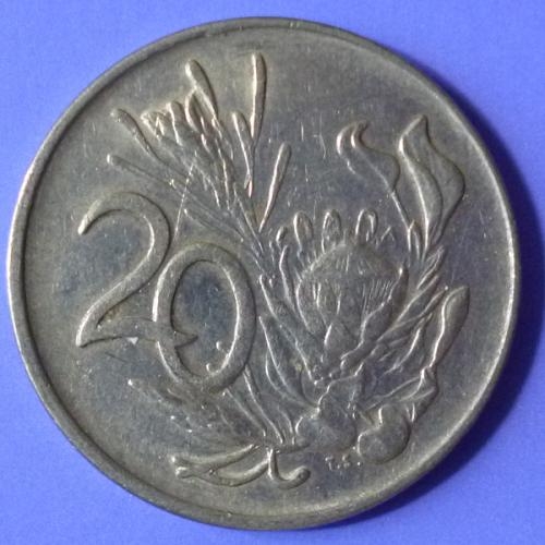 South Africa 20 Cents 1977 KM 86