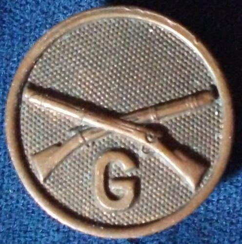 """WWI era """"G"""" Company Collar Disc Screw On w/Nut"""