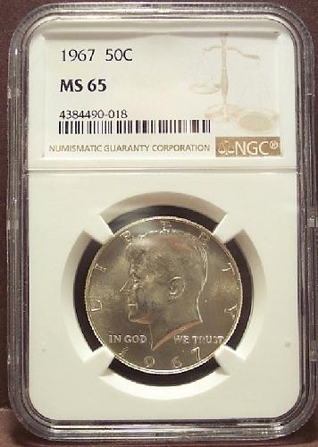 1967 Kennedy Half Dollar NGC MS65 #G014
