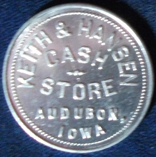Keith & Hansen Cash Store, Audubon, Iowa, Good For $1.00 In Trade #2
