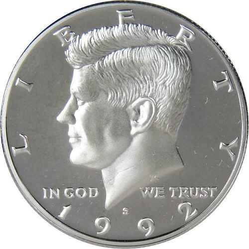 1992   S  PROOF    KENNEDY HALF  DOLLAR
