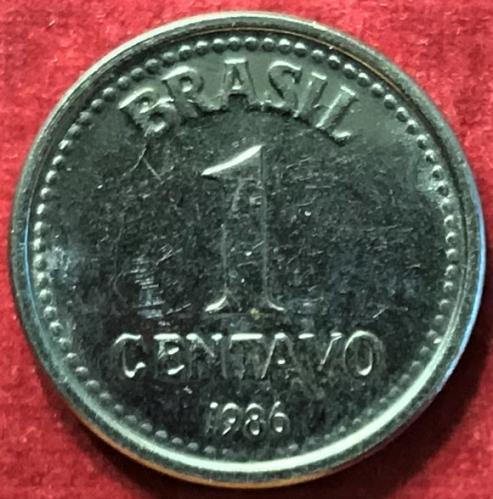 Brazil 1986 = 1 Centavo