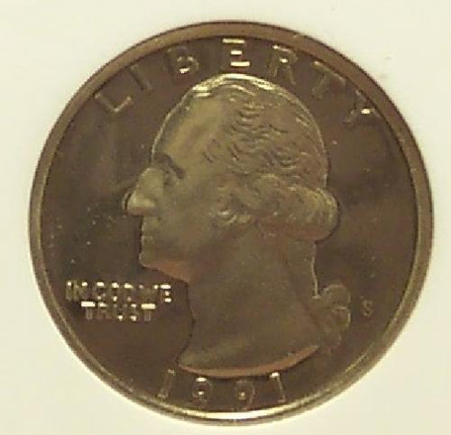 1991-S Proof Washington Quarter ANACS PR68 #G062