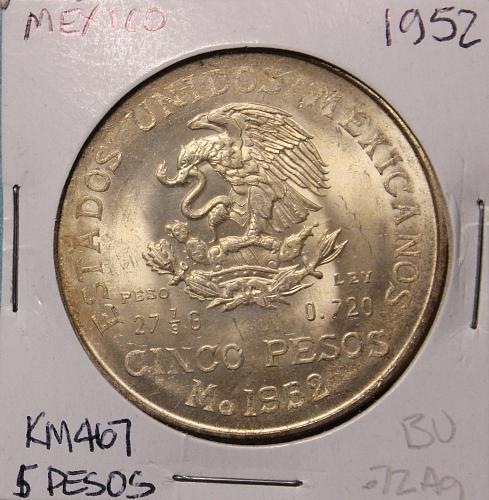 Mexico 5 Pesos 1952