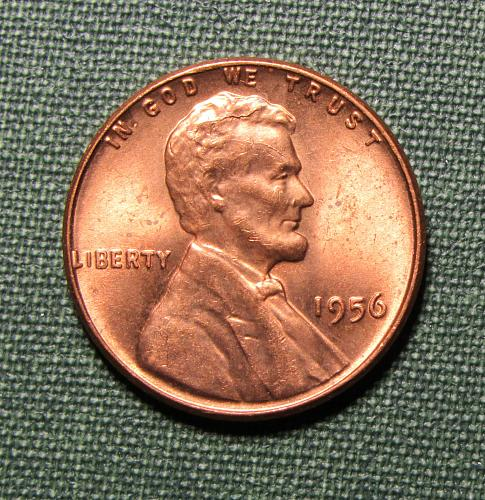 1956P Wheat Back Lincoln Cent