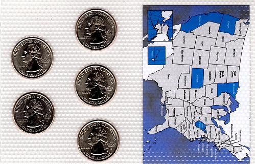 2005 DENVER STATE QUARTERS 5 COIN SET