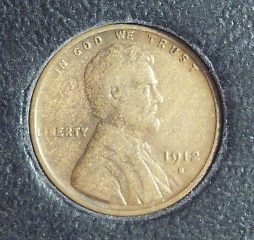 1912-S Lincoln Wheat Penny F12 #0027