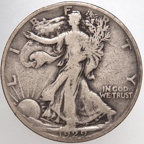 1929 S Walking Liberty Half Dollar #8