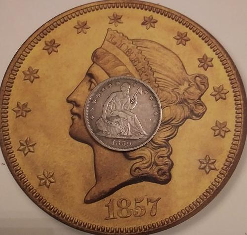 1859 O Seated Liberty Half Dollar in VF