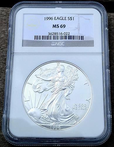 1996 American Eagle Silver Dollar Coin Bullion MS 69