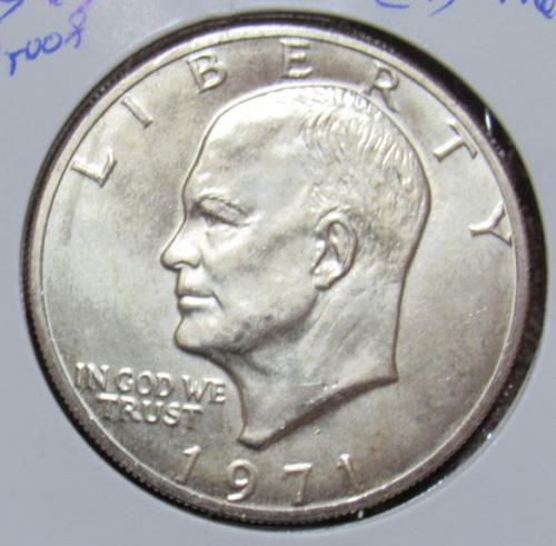 1971 S Eisenhower Dollar: Silver Clad Proof