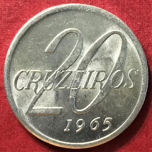 Brazil 1965 = 20 Cruzeiros [#2]