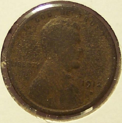 1912-D Lincoln Wheat Penny G4 #0066