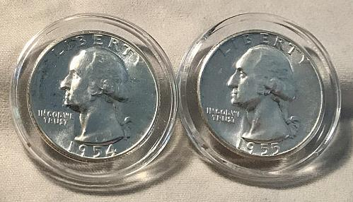 1954 & 1955 Washington Quarters
