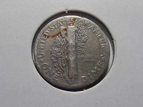 1938 P Mercury Silver Dime (38PT2)