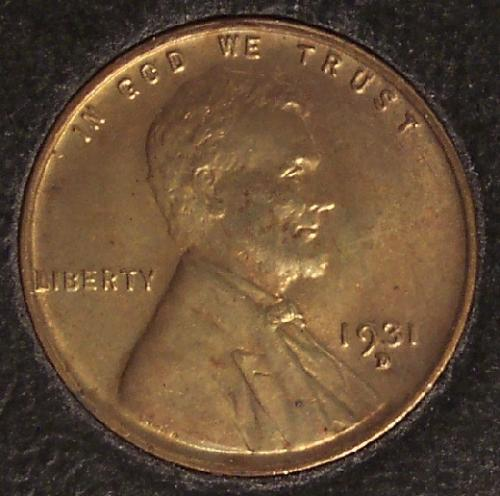 1931-D Lincoln Wheat Back Penny BU #0086