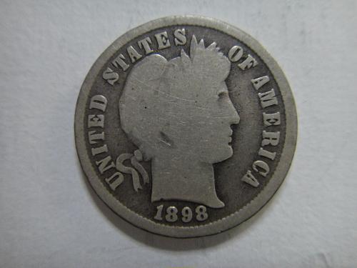 1898 Barber Dime Good-4
