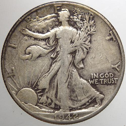 1942 P Walking Liberty Half Dollar #15