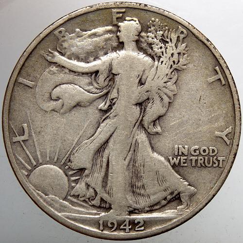 1942 S Walking Liberty Half Dollar #15