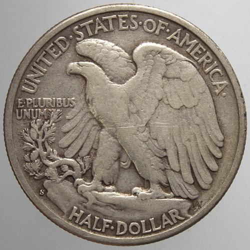 1943 S Walking Liberty Half Dollars #15
