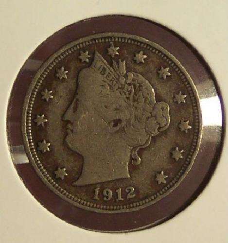 "1912 Liberty ""V"" Nickel VF #0094"