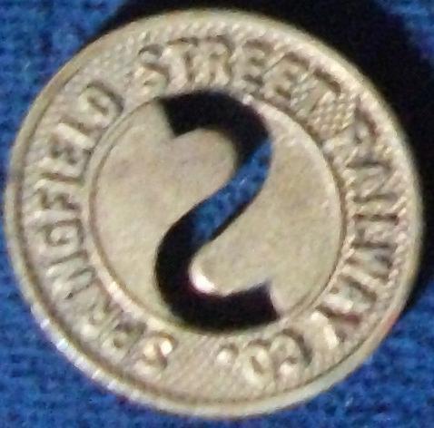 Springfield Street Railway Co. (Springfield, MA) Fare Token