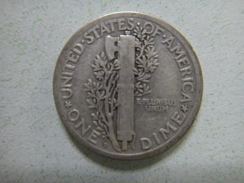 1919-D Mercury Dime Fine-12 Very Nice Surfaces No Major Marks!