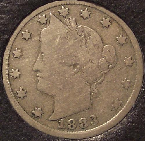 1883 Liberty Head Nickel N/C VG #0049