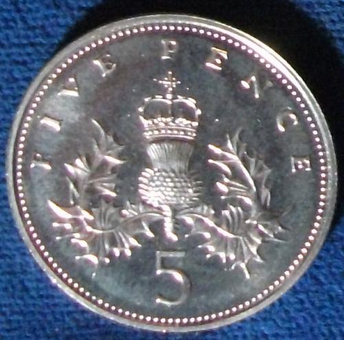 1986 Great Britain 5 Pence BU