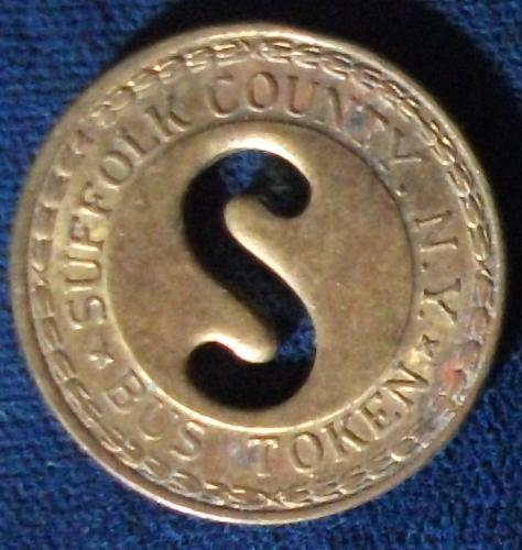 Suffolk Co., NY Bus Token