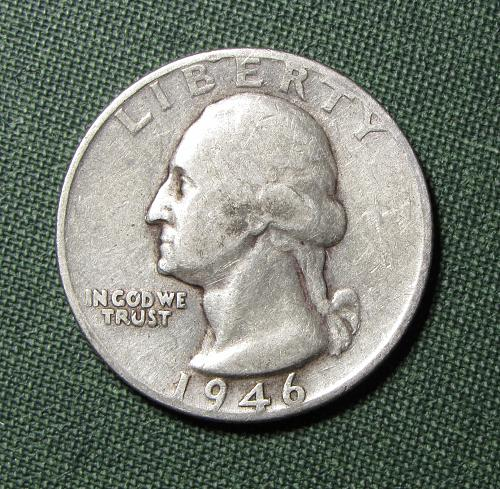 1946D Silver Washington Quarter