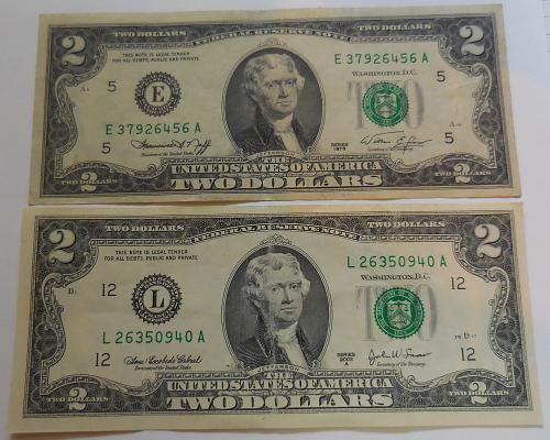 Two Two Dollar Bills