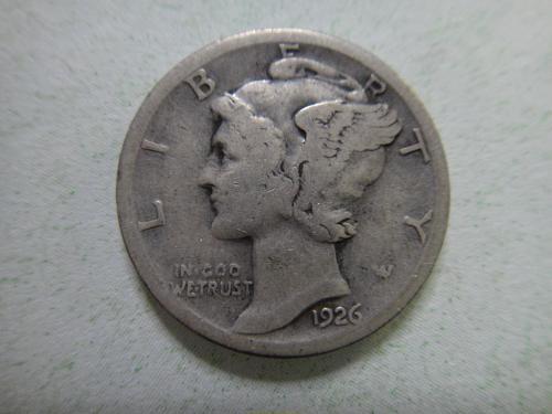1926-S Mercury Dime Very Good-8