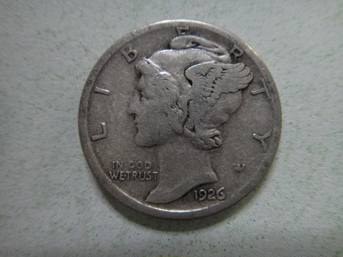 1926-S Mercury Dime Very Fine-30 Nice Medium Pearl to Olive Grey Patina!