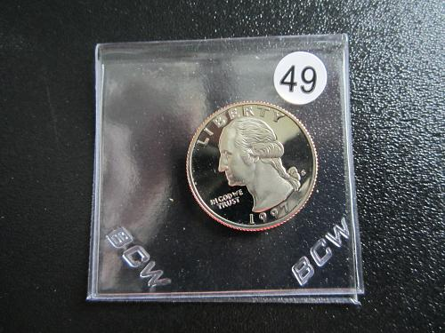 1997-S Proof Washing Quarters  PR-65 Packaged in 2 x 2 Coin Flaps(Box 5B#49)