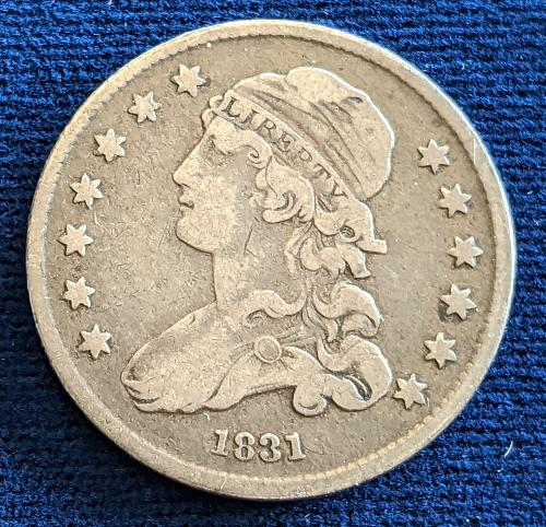 1831 VERY FINE CAPPED BUST QUARTER