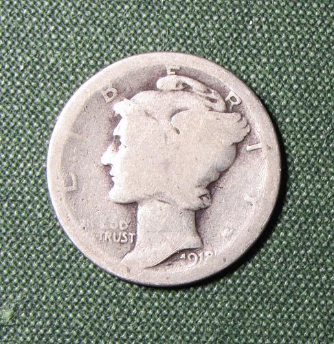 1918P Mercury Dime