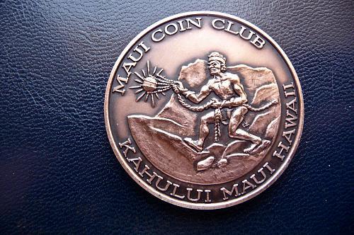 Maui Hawaii 1980  Annual coin club show medal