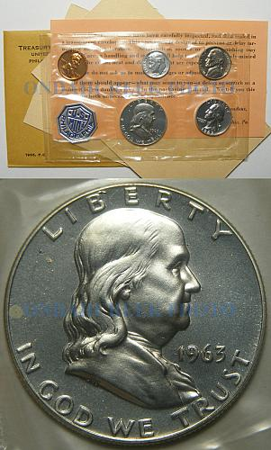 1963 US Mint Proof Set with All Original Packaging