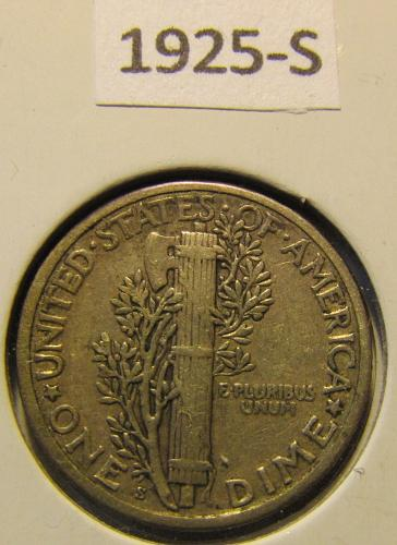 Semi-KEY 1925-S Mercury Dime Final listing, Feb. 20 will withdraw!