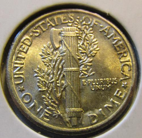 1917-P  Mercury Dime FULL SPLIT BANDS LOOK///if not sold by 3/9will close shop