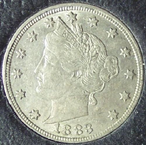 """1883 Liberty Head Nickel Var 1 """"No Cents"""" EF45 #0134"""