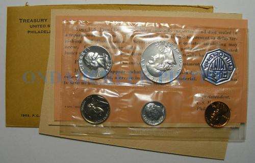 1963 US Mint Proof Set with Doubled Die Franklin Half