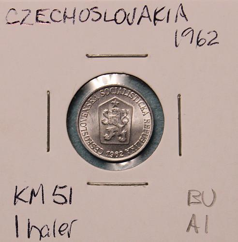 Czechoslovakia 1962 1 haler
