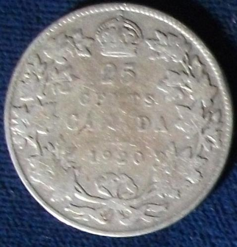 1920 Canada 25 Cents VG