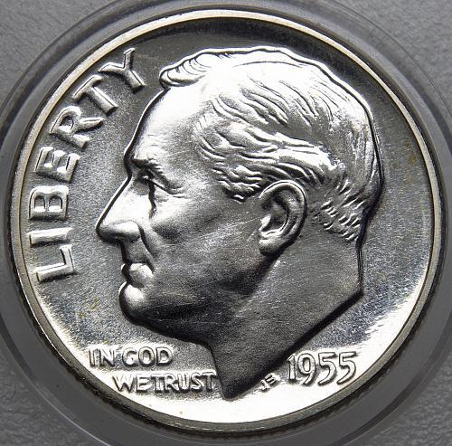 1955 P Roosevelt Dime#12 PROOF