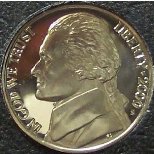 2000-S Proof Jefferson Nickel PF65 Deep Cameo #0187